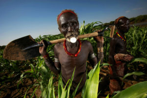 LORYRA, SOUTH OMO, ETHIOPIA, DECEMBER 2007: Images of the Dassanech people in the Lower Omo Valley, South West Ethiopia, 14 December 2007. (Photo by Brent Stirton/Getty Images.)