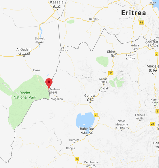 Ethiopia Grenade Attack On Hotel In Gondar Injures Two The - Gondar map